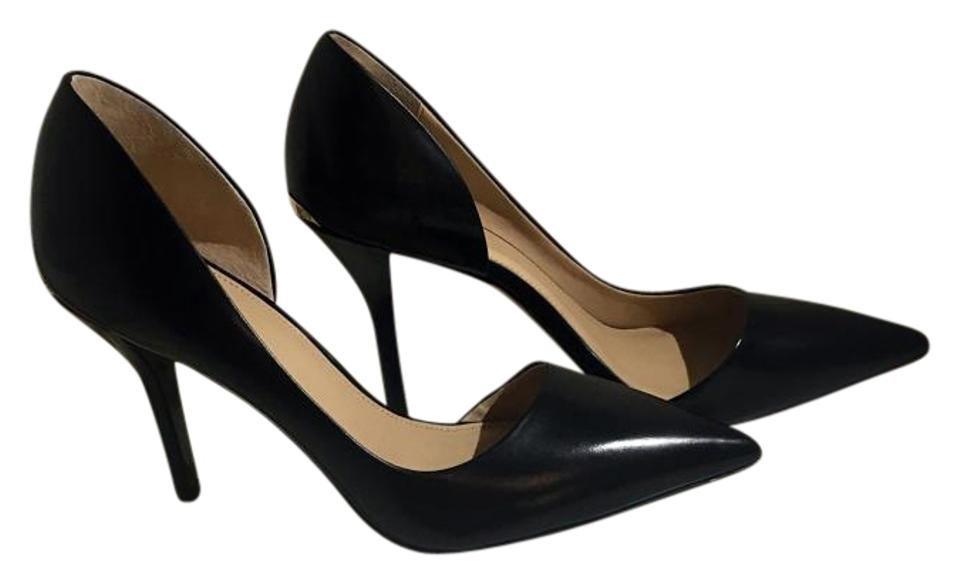 4efc0ce3e772 Michael Kors Black Julieta Leather Half D orsay Pumps Size US 8.5 ...
