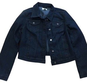 Ann Taylor LOFT Dark Blue Womens Jean Jacket