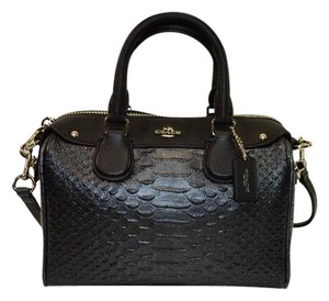 Coach Baby Bennet Snakeskin Cross Body Bag