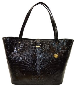 Brahmin Large Shopper Tote in BLACK