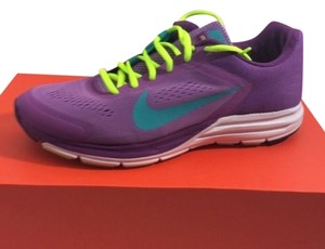 Nike Purple with green and neon yellow trim Athletic