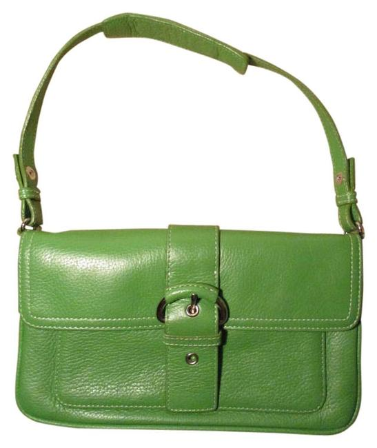 Item - Green Leather Shoulder Bag