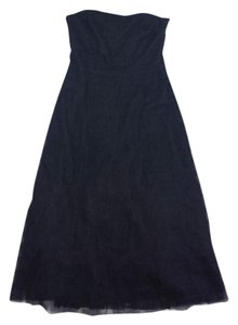 BCBGMAXAZRIA short dress Black Tulle Tiered Strapless on Tradesy
