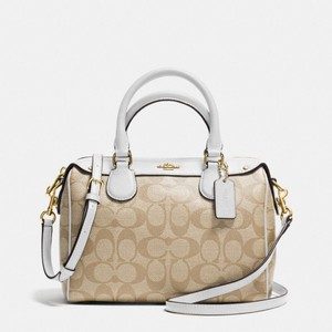 Coach Satchel in Chalk / Khaki