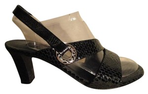 Brighton Snakeskin Leather black Sandals