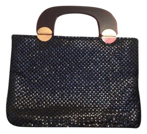 Other Metallic Hardware Mesh Vintage Retro Satchel in Black, brown, gold trim