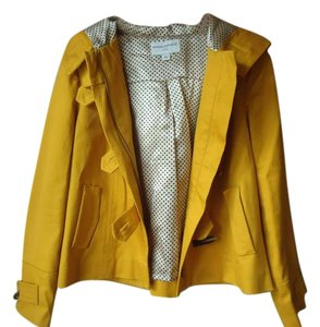 Banana Republic Toggle Lined Hooded yellow Jacket
