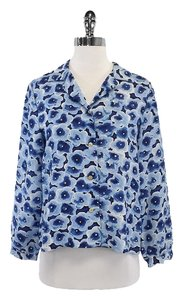 Marc by Marc Jacobs Blue Floral Shirt Sweatshirt