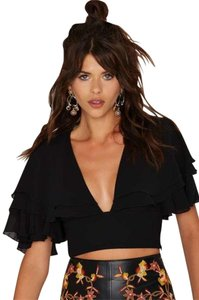 Nasty Gal Crop Top Black