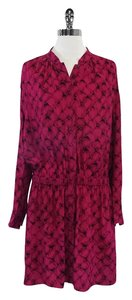 Diane von Furstenberg short dress Magenta Black on Tradesy