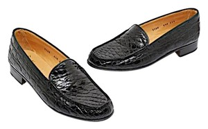 Gravati Neiman Marcus Alligator Black Alligator Flats