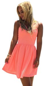 Dainty Hooligan short dress Neon Coral Skater Fit And Flare Flattering Summer on Tradesy