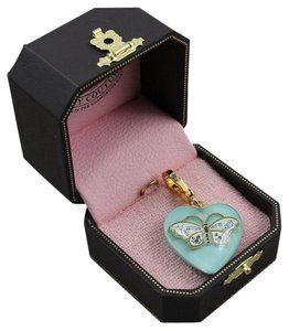 Juicy Couture New Juicy Couture Lucite Blue Heart & Butterfly Charm (Retired)