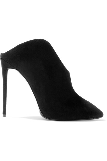 Giuseppe Zanotti Suede Slingback Suede Pointed Toe black Boots Image 3