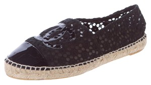 Chanel Espadrille Interlocking Cc Black Flats