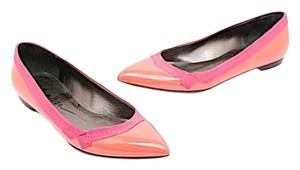 Lanvin Patent Leather Coral Flats
