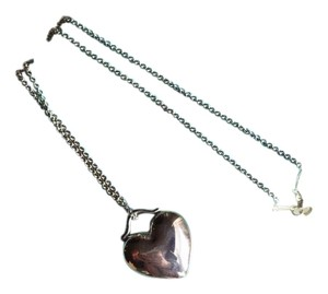 Tiffany & Co. Stirling Silver Solid Love Heart