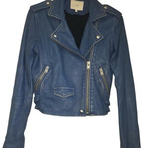 IRO Dirty Blue Leather Jacket