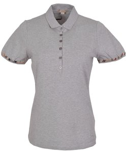 Burberry Polo Polo T Shirt Grey