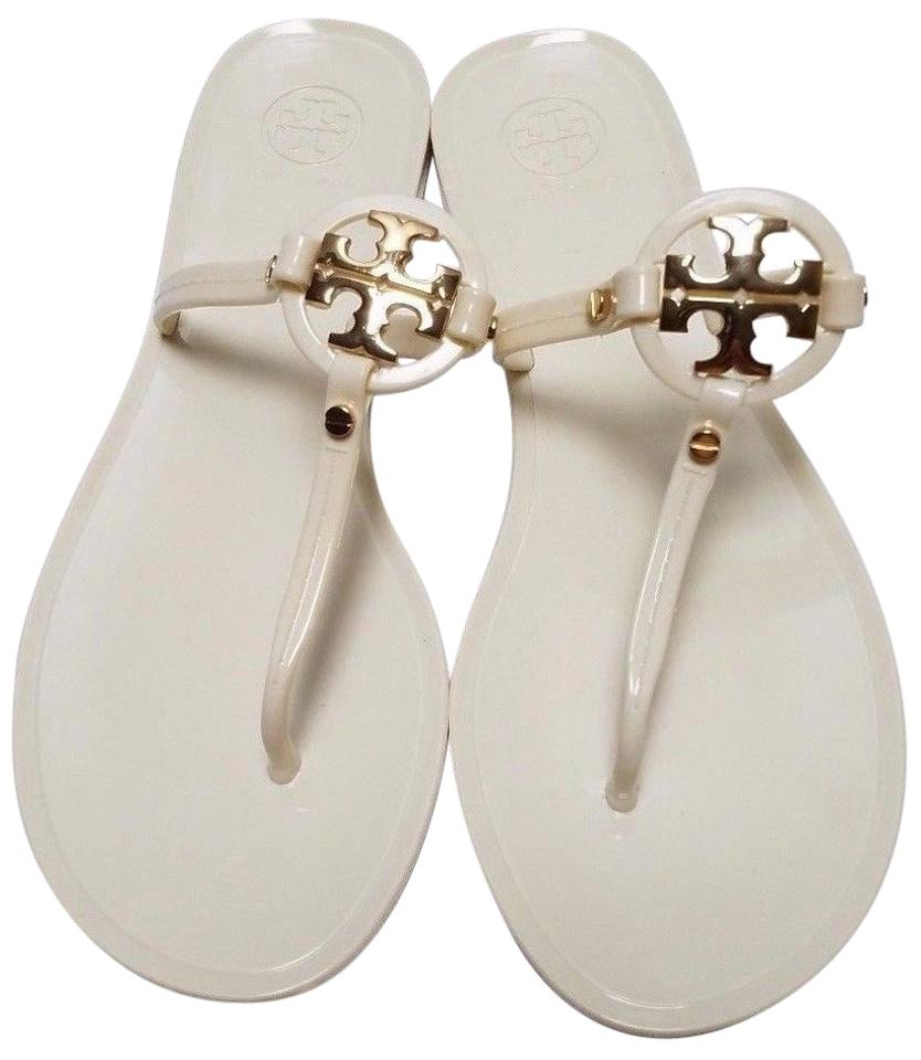 3dfef4d42 Tory Burch White Mini Miller Sandals. Size  US 8 Regular (M ...
