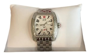Michele NEW Authentic Michele Deco Signature Diamond Dial Stainless Steel MWW06P000099 Ladies Watch