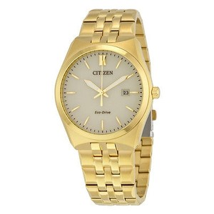 Citizen Citizen Corso Eco-drive Champagne Dial Gold-tone Stainless Steel Mens Watch