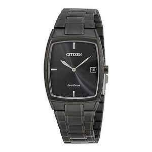 Citizen Citizen Eco-drive Black Stainless Steel Mens Dress Watch