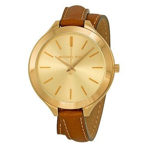 Michael Kors Michael Kors Runway Champagne Dial Tan Leather Ladies Watch