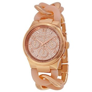Michael Kors Michael Kors Runway Twist Rose Dial Rose Gold-tone Ladies Watch