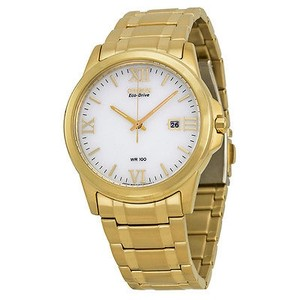 Citizen Citizen Eco-drive White Dial Gold-tone Steel Mens Watch