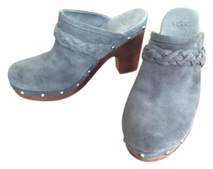 UGG Australia Leather Suede Grey Mules