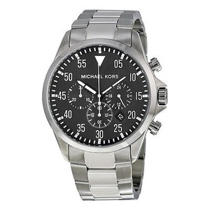 Michael Kors Michael Kors Gage Chronograph Black Dial Stainless Steel Watrch