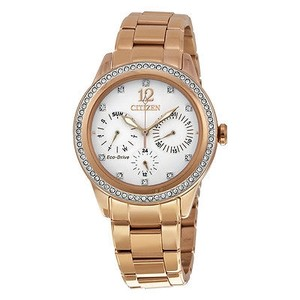 Citizen Citizen Silhouette Crystal White Dial Rose Gold-tone Ladies Watch