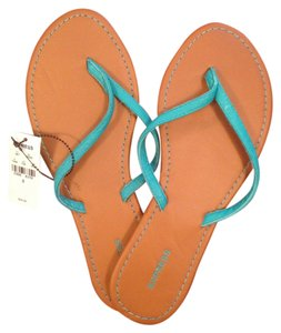 Express Tan with teal straps Sandals