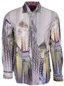 Robert Graham Shirt Sport Shirt Limited Edition Button Down Shirt Multi-Color
