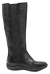 Prada Knee High Leather Black Boots