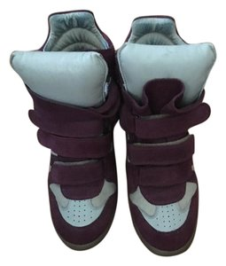 Isabel Marant Summer Size 39 Star Maroon and beige Wedges