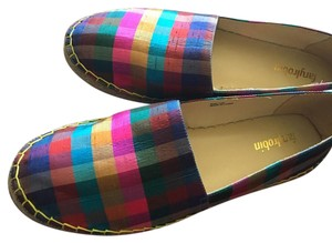 Anthropologie Multi-colored boxed print Flats