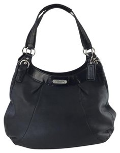 Coach Leather/patent Leather Shoulder Bag