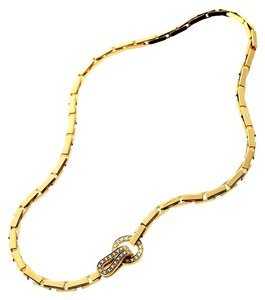 Cartier Cartier Agrafe Diamond Gold Necklace