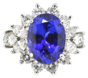 Other 18K White Gold Tanzanite 3.0Ct Diamond Ring 9.8 Grams Size 5.75