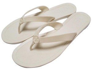 Tory Burch Jelly Flip Flops White Sandals