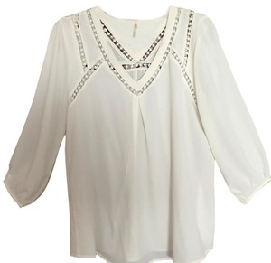 Nine 1 Eight Flowy Summer Top Off-White
