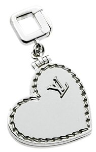 Louis Vuitton Louis Vuitton Heart Locket Charm White Gold Pendant