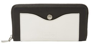 Opening Ceremony Cowhide Fossil Black and off white Clutch