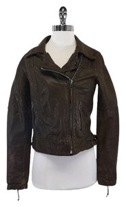 Q40 Brown Distressed Leather Motorcycle Leather Jacket