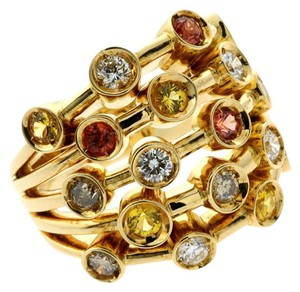 Chanel Chanel Diamond, Multicolor Sapphire Gold Ring