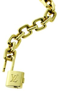 Louis Vuitton Louis Vuitton Padlock Charm Gold Bracelet