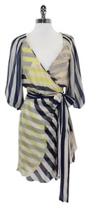 Diane von Furstenberg short dress Multi Color Striped Silk Wrap on Tradesy