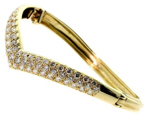 Van Cleef & Arpels Van Cleef & Arpels Gold Diamond Bangle Bracelet